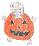 Platy Pumpkin by InaginaryPlatypus