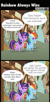 Comic - Rainbow Always Wins by RDbrony16