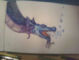 water dragon water color pencils by PixelNuggets