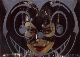 Catwoman card 177 by charles-hall