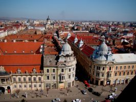 Cluj-Napoca seen from St. Michael's Church tower by CarpathianStorm