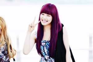 Tiffany - Purple Hair Edit by kpopcolor