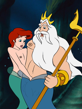 Triton and his youngest son by FinsFlipper