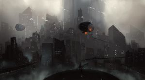 Futuristic city - Study Digitalpainting by PIKSELLstudio