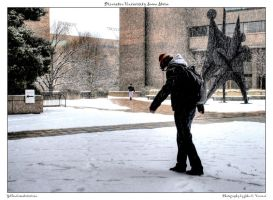 Princeton University Snow Stor by yellowcaseartist