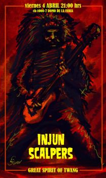 Ch1000-7 Poster Injun Scalpers by J-Perro