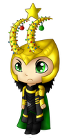 Christmas Tree Loki by Whovian-Rinny