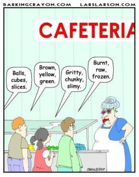 Cafeteria Food cartoon by AtomicCheese