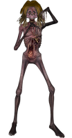 Crazy Ugly Zombie 2 png by mysticmorning