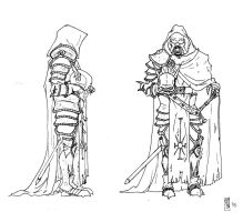Death Knight concept lineart 2 by Tommi-75