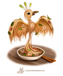 Daily Paint #1267. Pho-nix by Cryptid-Creations