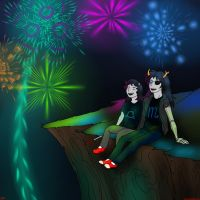 Terezi and Vriska by CinnamonKitt