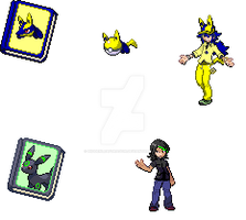 Pokemon OC Sprites by HiddenLeafDragon