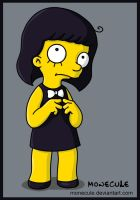 Little Girl (simpsons style) by Monecule