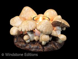 Fairy ring candle lamp by Reptangle