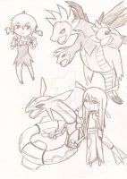 Gijinka and Pokemon 2 by Pencil-Only