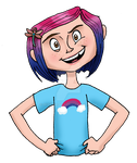 Coraline Jones for Bi Visibility Day by queenbean3