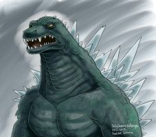 Daily Sketches Godzilla by fedde