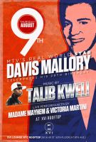 flyer for DAVIS MALLORY and TALIB KWELI by sounddecor