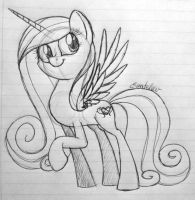 Cadance sketch by Grendeleev
