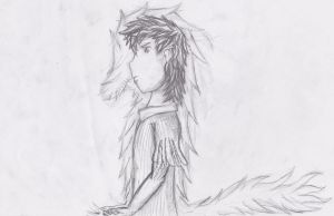 Wolfboy Version 2 uncolored by Sir-Eagle