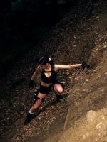 Lara Croft -  hanging by TanyaCroft