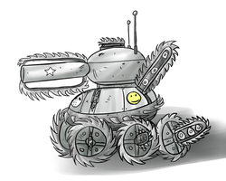 CHAINSAW TANK by furiousrockets