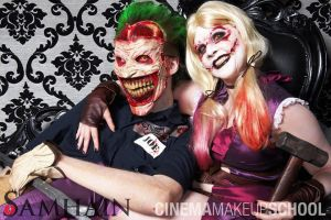 Harley and her Joker by CinemaMakeupSchool