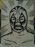 Mil Mascaras Sketchcard by Guerrillasuit