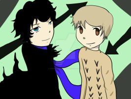 Sherlock and John: Soul Eater by Ocean-Breeze-Fox