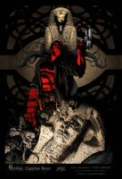 Hellboy: Egyptian Ruins by A-neto