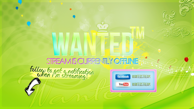 'Stream Offline' Image for WantedTM @ ePvPers by MSorrowDesigns