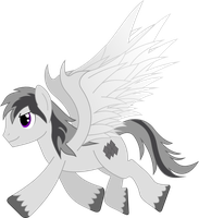 Request two - Gray Pegasus: Redrawn by AetherElemental