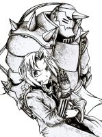 Elric Brothers by kimmykay