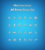 Mini Icons Series: #1 Arrow Icons Set by AZMIND