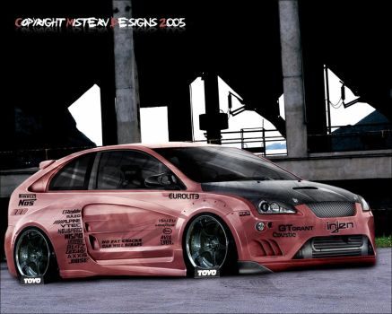 Ford Focus cartune by MrVince