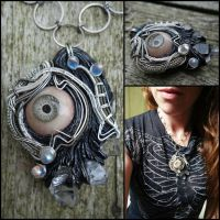 Wire wrapped eye by dogzillalives