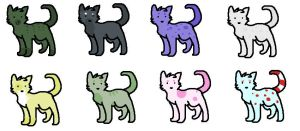 cat adoptables 3 points each by Pepsq