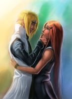 Minato and Kushina by alecyl