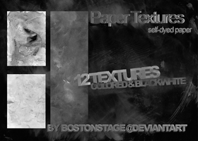 Paper Textures x12 by bostonstage