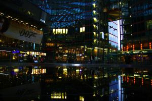 Sony Centre Lights by happienoodleboy