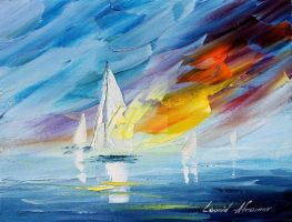 Oceans glory by Leonid Afremov by Leonidafremov