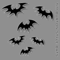 Tim Burton Style Vector Bats by liquid-venom