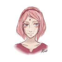 Sakura Haruno : The Last (Sketch) by Railyce