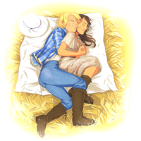 Commission: Angel In A Haystack by Afterlaughs