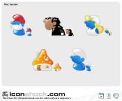 Smurfs web  icons by Iconshock