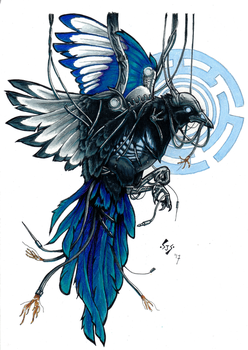 Cybernetic Magpie by kungfubellydancer