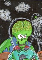 MARS ATTACKS sketch card by johnnyism