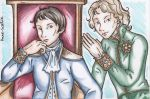 Napoleon and Talleyrand by dauwdrupje