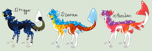 Koiote adopts! OPEN POINTS OR USD !!REDUCED!! by ZuuZombie
